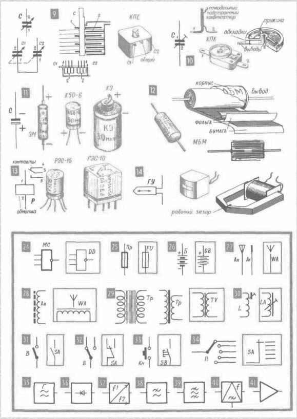 деталей и элементов схем